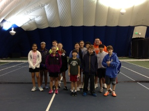 Cherry Hill Health & Racquet Club kids at a Jr. Team Tennis Play Day.