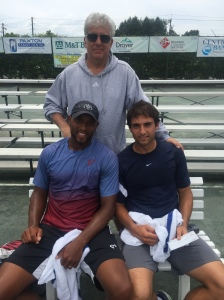 Shabaz and doubles partner, Marcus Fugate, with tournament director, Craig Mathias