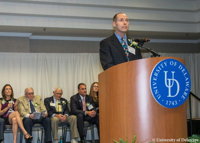Ken Dill at the University of Delaware Athletic Hall of Fame Induction Ceremony.