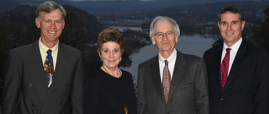 Inductees (from left to right) Mark Darby, Bette Salmon, Harry Ferrari and Dan Santorum