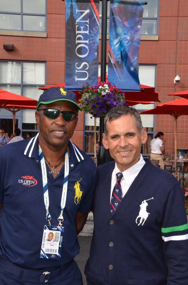 Larry Mulligan-Gibbs (left) with another USTA official from Middle States, Chris Zeak.