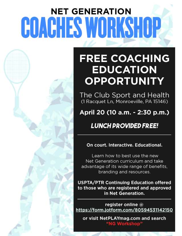 Net Generation Coaches Workshop April 20 2018 Netplay Magazine